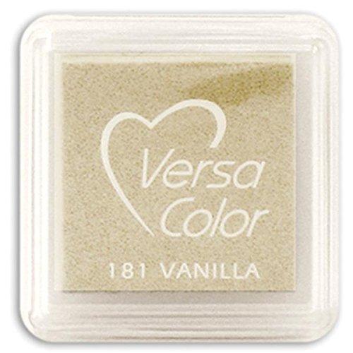 Tsukineko Small-Size VersaColor Ultimate Pigment Inkpad, Vanilla (Versacolor Ink Cube)