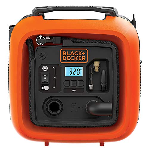 BLACK+DECKER ASI400-XJ 12V/160PSI Multipurpose Tyre Inflator with with Digital Guage, Autocut Off System and 2 Operating…