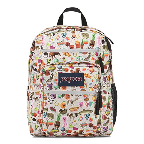 JanSport Mens Classic Mainstream Big Student Backpack - Multi Stickers / 17.5