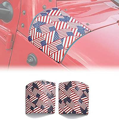 RT-TCZ Cowl Body Armor Cover Sport Exterior Accessories Parts for Jeep Wrangler Rubicon Sahara JK & Unlimited 2007-2020 (US Flag): Automotive