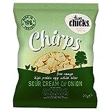 Two Chicks Chirps - Sour Cream & Onion High Protein Egg White Bites - 28g