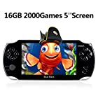 Handheld Game Console,16GB 5 Inch Screen2000 Classic Game, Support Video & Music Playing