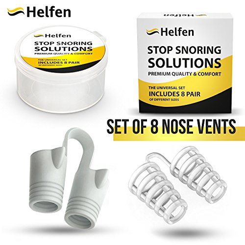 Anti Snoring Devices - Snoring Solution - Snore Stopper Set - Anti Snoring Solutions - 8 Anti Snoring Nose Vents - Anti Snoring Device- Snoring Stopper Nasal Dilators (Clear) by Helfen (Image #1)