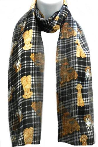 Golden Retriever Belt (Imagine If... Silk Feel Scarf - Puppy Dog Plaid. Puppy Plaid -)