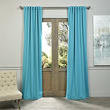 Half Price Drapes BOCH-201404-84 Blackout Curtain, Turquoise Blue