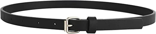 3 Pack Belts for Girls Rainbow Black Silver