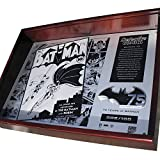 Batman 75th Anniversary Limited Edition Metal Collector Plaque in Timber Display Case with Certificate of Authenticity