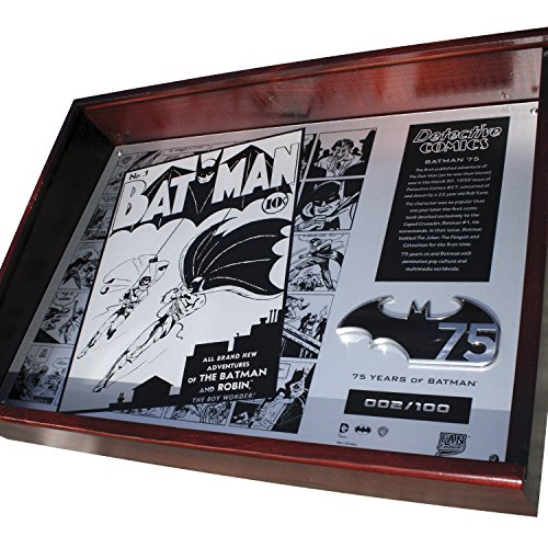 - Fan Emblems Batman 75th Anniversary Limited Edition Metal Collector Plaque in Timber Display Case with Certificate of Authenticity