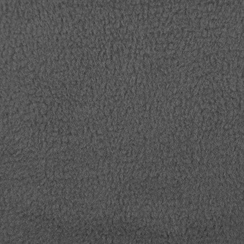 - Charcoal Gray Fleece Fabric - By the Yard
