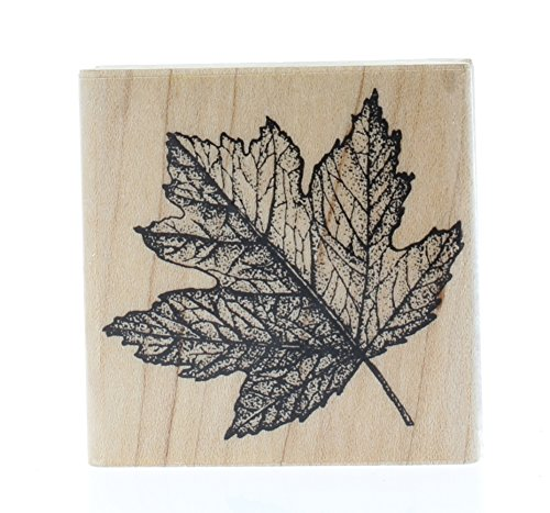 Maple Leaf 3 Wood Mounted Rubber Stamp (HH2177) (Mounted Dragonfly Rubber Stamp Wood)