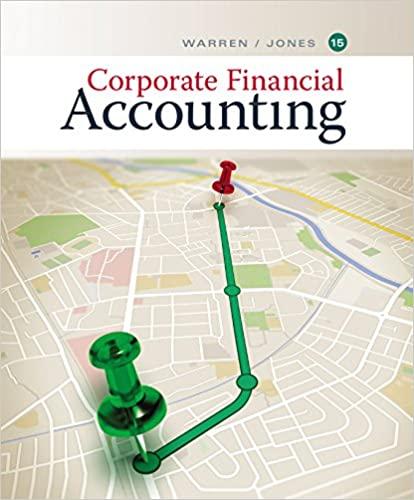 Corporate Financial Accounting by Warren/Jones