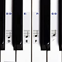 Piano Stickers for Keys w/ Complete Printed Notes on...