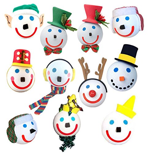 Jack in the Box - Collectible 11 Piece Christmas Holiday Winter Antenna Balls Gift Set (Antenna Toppers)