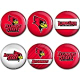WinCraft Illinois State Redbirds Official NCAA Metal Button Badge Pin Set 6 Pack 990006