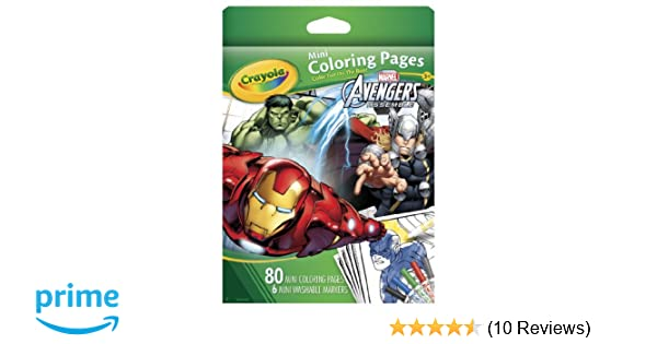 Ultimate Avengers Coloring Pages : Amazon crayola avengers mini coloring pages toys games