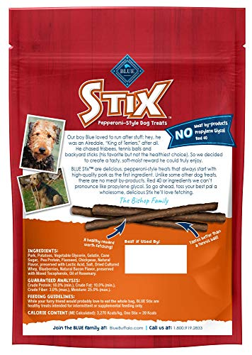 Blue Buffalo Stix Natural Soft-Moist Dog Treats