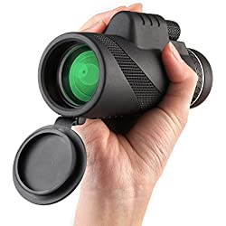 TOP Gift 4-12 Year Old Boy Gifts, 4-12 Year Old Girl Gifts, 4-12 Year Old Kid Gifts, Monocular Telescope for Kids Black TG08