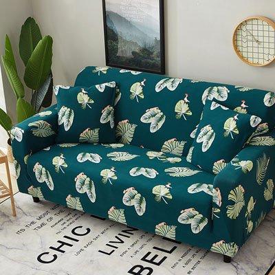1pc copri divano for Living Room Tight Wrap All-Inclusive Slip-Resistant Sofa Cover Elastic Sofa Towel One Two Three Four-seate   Coffee color, Four Seater