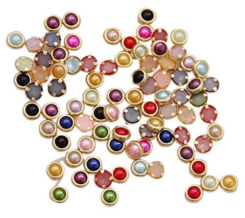 Gilt Foil (60 PCS Colorful Gilt Peal For Nail Art Decoration, Multicolor(4mm))