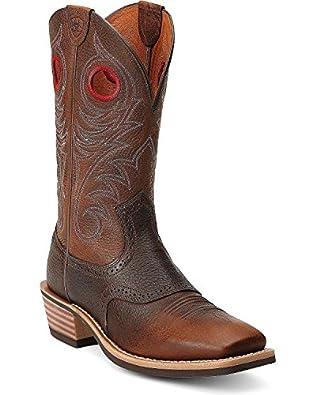 Amazon.com | Ariat Men's Heritage Roughstock Western Cowboy Boot ...