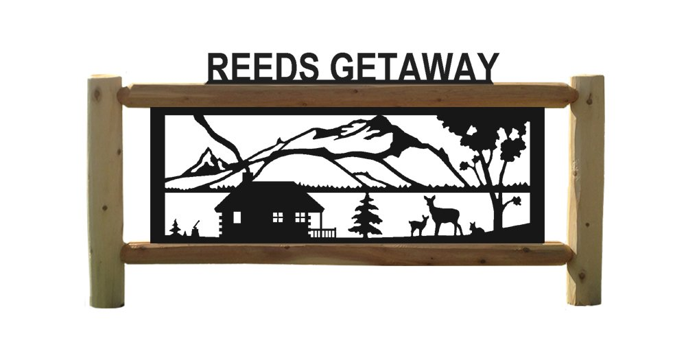 Clingermans Personalized Cabin Sign