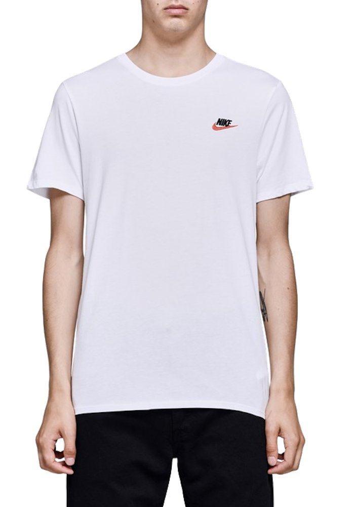 e542a89f Galleon - NIKE Men's Sportswear Club Embrd Futura Tee (M, White/University  Red)