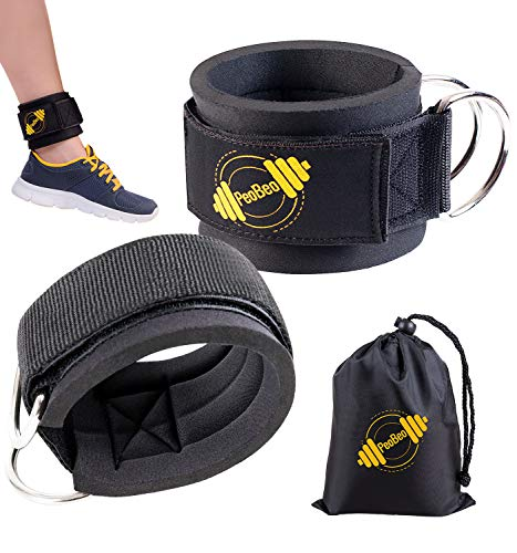 (Ankle Strap for Cable Machine | Ankle Straps for Gym - Black Pair)