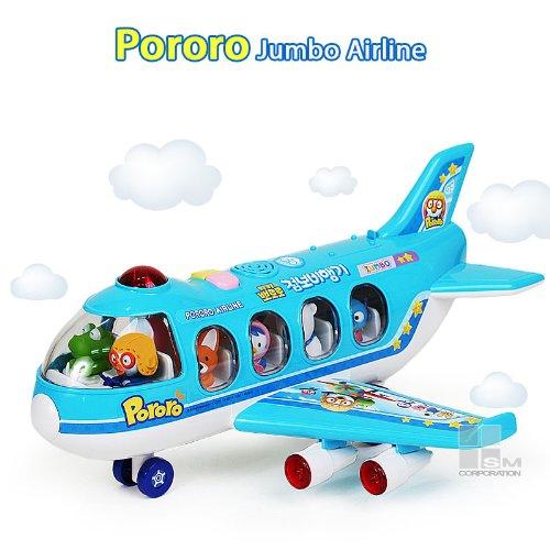 KOREAN TOY Pororo & Friends Jumbo Jet Airplane with sound effect ()