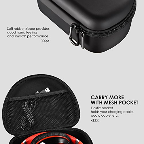 Large Product Image of Mpow Headphone Case for Mpow 059/ Mpow H1/H2/H5/Thor and More Foldable Headphones of Other Brands, Storage Bag Travel Carrying Case for Headphones Foldable, Over-Ear/ On-Ear