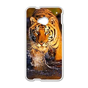 King of Forest Tiger Hight Quality Plastic Case for HTC M7