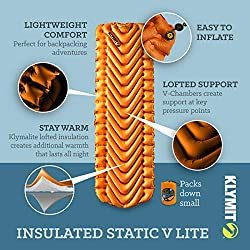 Insulated Static V Lite Sleeping Pad - Mango Orange 2020