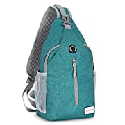 ZOMAKE Sling Bag Backpack for Women Girl, Small Chest Crossbody Bag Daypack Over the Shoulder Backpack for Travel Day…