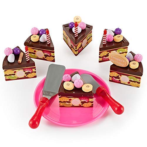 Think Gizmos Play Party Cake TG713 - Party Cake Play Set for Kids Aged 3 4 5 6 by Think Gizmos (Image #2)