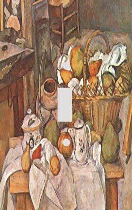 Cezanne Still Life Basket Switchplate - Switch Plate Cover