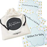 Baby Shower Prediction Cards, Wishes & Parenthood Advice Cards For 10 Guests with Keepsake Pouch Baby Shower Game Set For 10 Guests Mint Raindrop 30 Cards Supplied