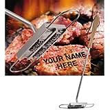 Ferro per marchio su carne da barbecue