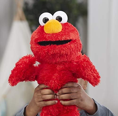 "51jJd2TkgsL - Sesame Street Love to Hug Elmo Talking, Singing, Hugging 14"" Plush Toy for Toddlers, Kids 18 Months & Up"