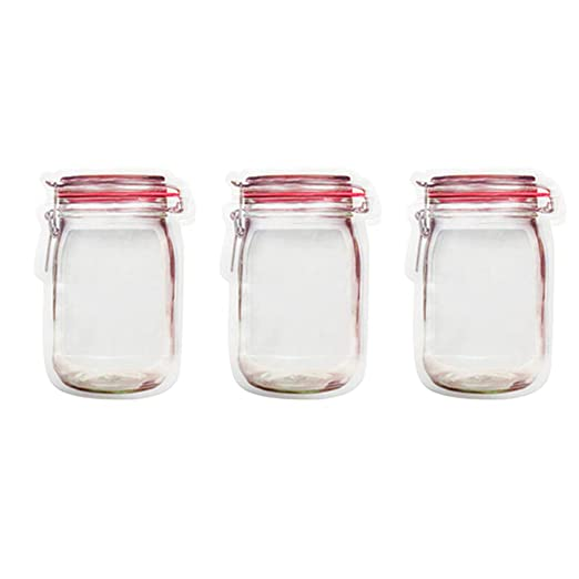 UPKOCH 3 bolsas transparentes con cierre hermético en forma ...