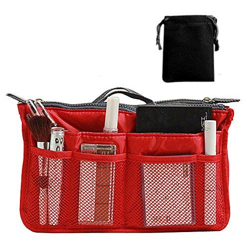 R Handbag RED Nylon R Insert Comestic Purse Nylon Handbag TOOGOO Gadget TOOGOO w6aqxaIZA