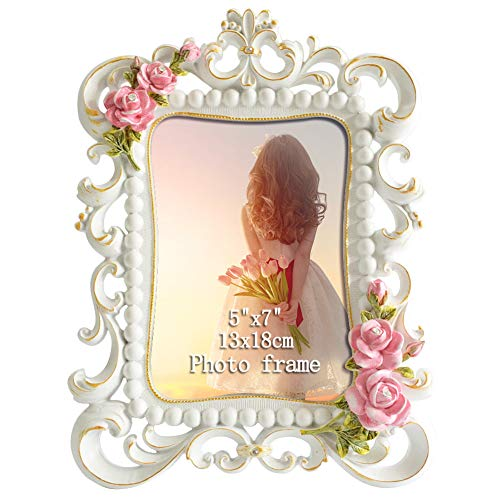 Giftgarden 5x7 Picture Frame Roses Romantic Frames 5 by 7 Inch Gifts for Girlfriend or Friendship