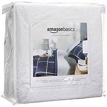 AmazonBasics Hypoallergenic Vinyl-Free Waterproof Mattress Protector, Queen