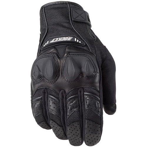 Joe Rocket Phoenix 4.0 Men's Leather Road Race Motorcycle Gloves - Black/Black/Black/Small