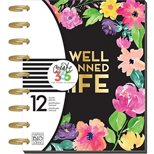 Create 365 The Medium Happy Planner, Happy Blooms, Well Planned Life - Life Organizer