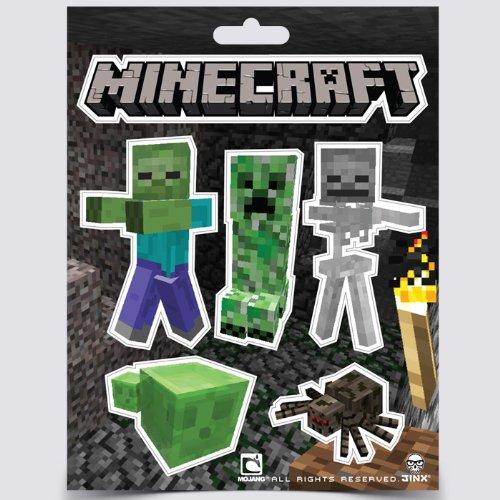 Minecraft Juego de pegatinas de 3: cara de Creeper ...