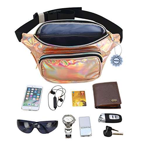 ce91ef78e97b Water Resistant Shiny Neon Fanny Bag for Women Rave Festival ...