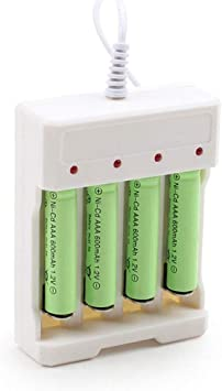 AAA Batteries # 1.2V Universal 4 Slot USB Plug In Battery Charger For AA