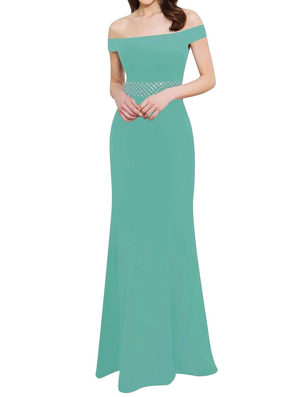 Hunter ASBridal Evening Dress Mermaid Prom Dresses with Short Sleeve Long Satin Evening Formal Gowns Off Shoulder