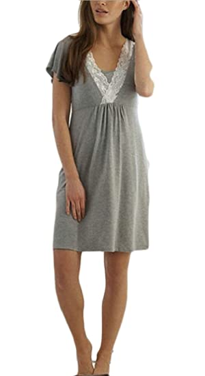 Msw Womens Short Sleeve Ruched Maternity Nursing Friendly Dress