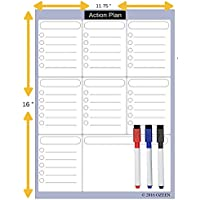 OZEEN Magnetic Calendar Weekly Planner Dry Erase Refrigerator To Do List, Chores Classroom