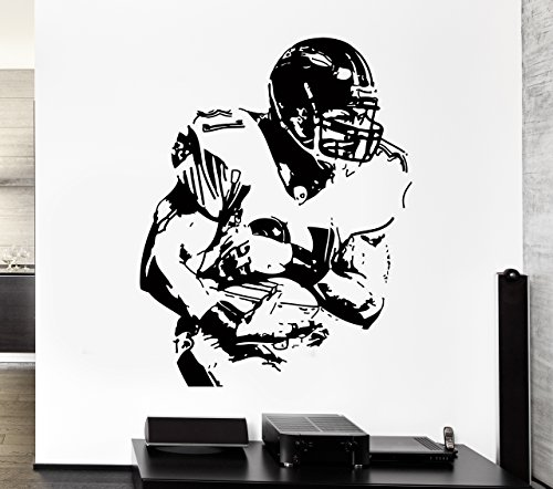 Wall Stickers Vinyl Decal American Football Wide Reciever Super Bowl Decor For Living Room (z2183i)]()